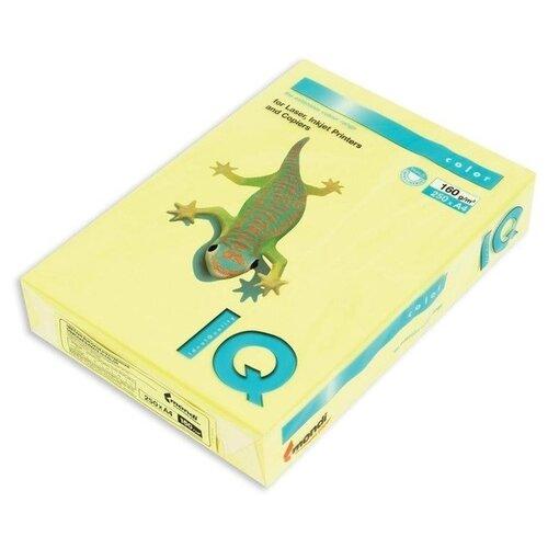 Фото - Бумага IQ Color А4 160 г/кв. м 250 листов Лимонно-жёлтый ZG34 бумага цветная а4 500л iq color 80г м2 желтый zg34 1520958