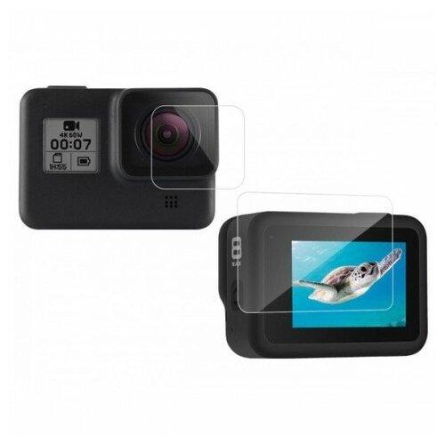 Фото - Telesin защитное стекло для линзы и экрана GoPro HERO8, двойной комплект telesin защелка с двумя креплениями для камер и аксессуаров черный