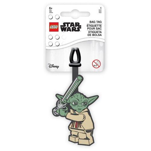 Бирка для багажа LEGO Star Wars Yoda, зеленый lego бирка для багажа lego star wars movie 2 дупло
