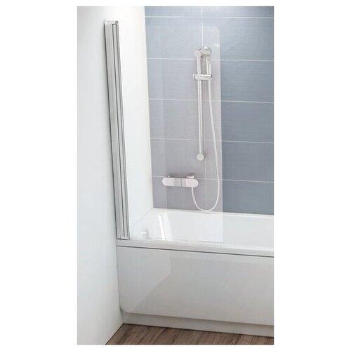 Фото - Шторка для ванны одноэлементная, поворотная Ravak CVS1 80 левая, белый профиль, прозрачное стекло 7QL40100Z1 шторка для ванны ravak chrome cvs1 80 l блестящая стекло transparent