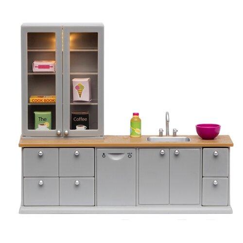 Купить Lundby Кухонный набор с буфетом (LB_60201600) серебристый, Мебель для кукол
