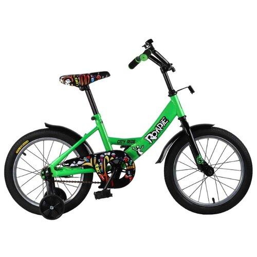 цена на Детский велосипед CITY-RIDE Roadie 16 (CR-B2-0116) зеленый (требует финальной сборки)