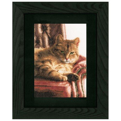 Купить Lanarte Набор для вышивания Расслабившийся Тэбби 24 x 34 см (0021762-PN), Наборы для вышивания