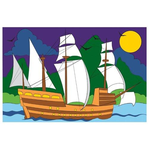 Школа талантов Картина по номерам Корабль в море 20х30 см (4798422)