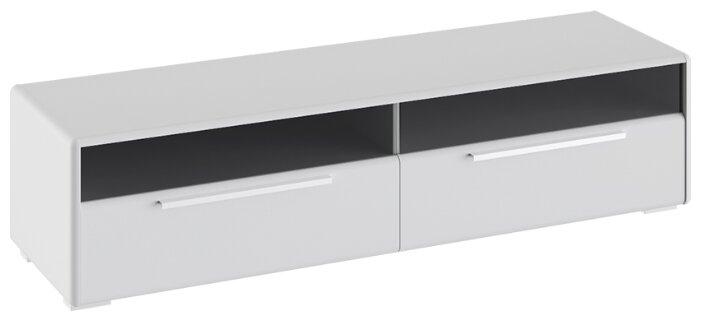 Купить Тумба под телевизор ТриЯ Наоми со стеклом, ШхГхВ: 154.4х44х38.2 см, цвет: белый глянец по низкой цене с доставкой из Яндекс.Маркета (бывший Беру)