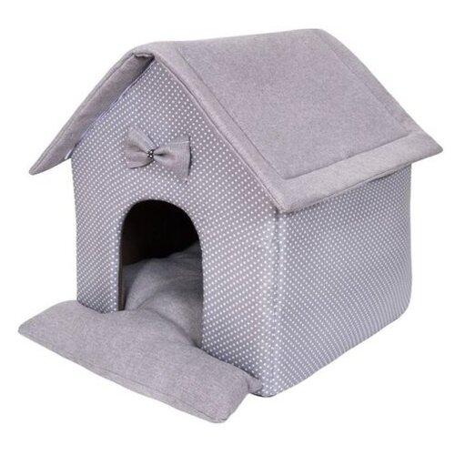 Домик для собак и кошек HutPets LittleHouse 45х40х45 см Gray Peas