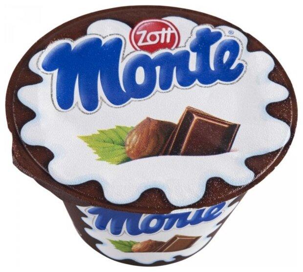 Десерт Monte большой стаканчик с шоколадом и лесными орехами 13.3%, 150 г