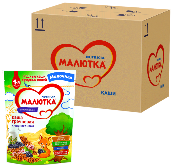 Каша Малютка (Nutricia) молочная гречневая с черносливом (с 4 месяцев) 220 г, 6 шт. — купить по выгодной цене на Яндекс.Маркете