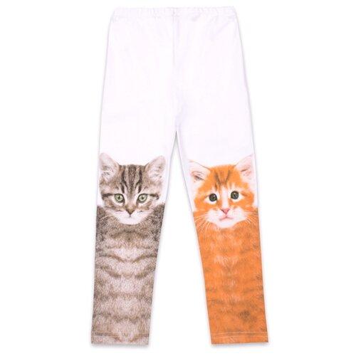 Купить Легинсы Апрель Идем в зоопарк размер 92-50, белый, Брюки и шорты