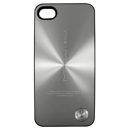 Чехол-аккумулятор MIPOW MACA Color Power Case SP103A для Apple iPhone 4/iPhone 4S silver protective back case for iphone 4 4s silver black