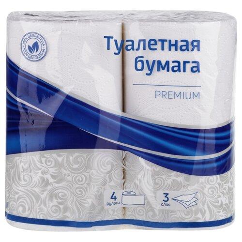 Фото - Туалетная бумага OfficeClean трехслойная Premium, 4 рул. хозяйственные товары officeclean туалетная бумага 2 слоя 4 шт