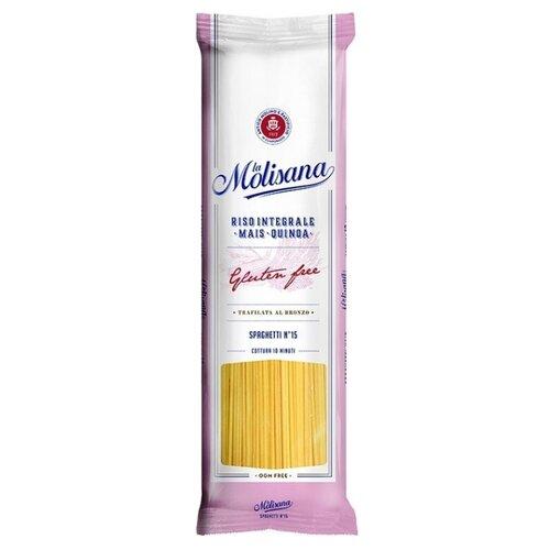 La Molisana Spa Макароны Spaghetti № 15 мультизлаковые без глютена, 400 г здоровей макароны алфавит без глютена 400 г