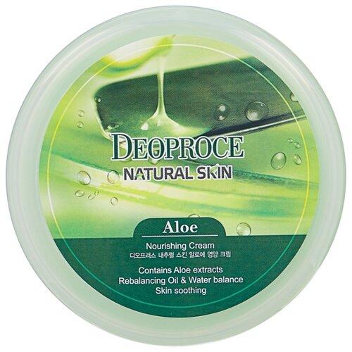 Фото - Крем для тела Deoproce Natural Skin Aloe Nourishing Cream, 100 г крем для тела deoproce natural skin olive nourishing cream 100 г