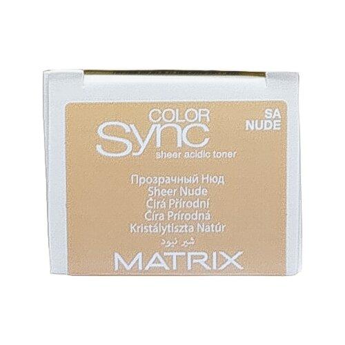 Купить Matrix Color Sync тонер для волос на кислотной основе без аммиака Sheer acidic toner, nude, 90 мл
