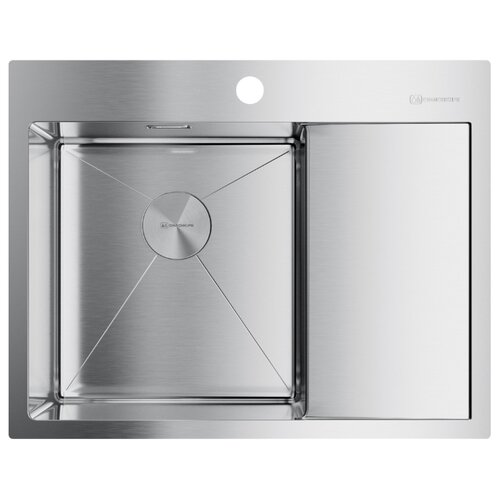Фото - Врезная кухонная мойка 65 см OMOIKIRI Akisame 65-IN-L нержавеющая сталь врезная кухонная мойка 77 см omoikiri kasumigaura 77 in 4993728 нержавеющая сталь
