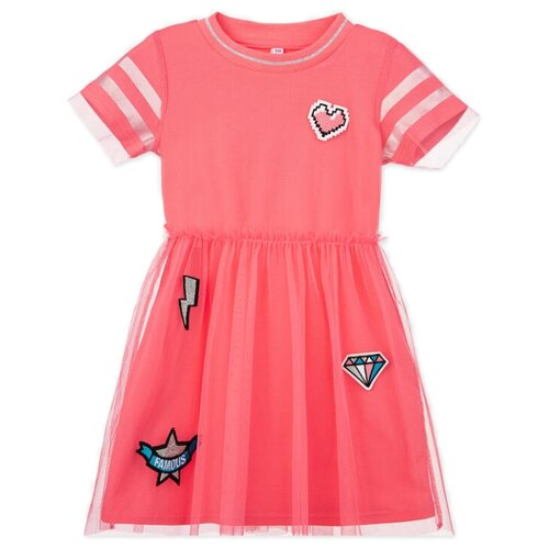 Купить Платье playToday размер 98, розовый, Платья и сарафаны