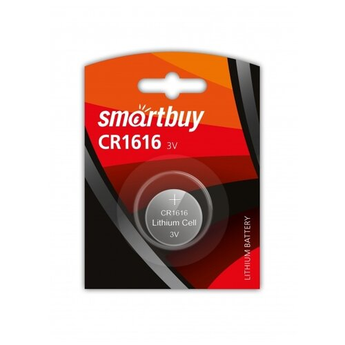 Фото - Элемент питания SMARTBUY CR 1616 BL1 - 1 шт. элемент питания smartbuy ag10 bl10 10 2000