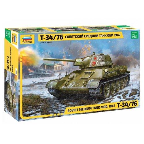 Сборная модель ZVEZDA Советский средний танк Т-34/76 (обр. 1942 г.) 3686 1:35 сборная модель zvezda советский средний танк т 34 76 обр 1942 г 3535pn 1 35