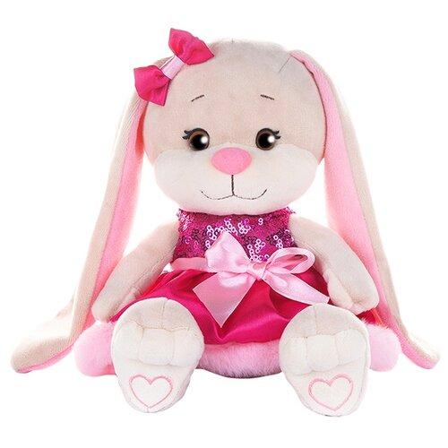 Купить Мягкая игрушка Jack & Lin Зайка Лин в розовом платьице с пайетками и мехом 20 см, Мягкие игрушки