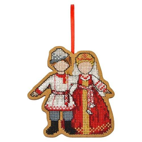 Созвездие Набор для вышивания крестом на основе Символ любви и семьи. Неразлучники 9 х 8,5 см (О-106) созвездие набор для вышивания крестом на основе новогодняя игрушка утренняя звезда 7 5 х 7 5 см ик 008