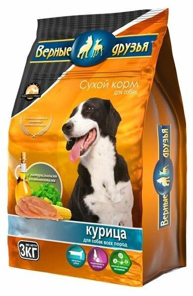 Корм для собак Верные друзья Сухой для всех пород - Курица (3 кг)