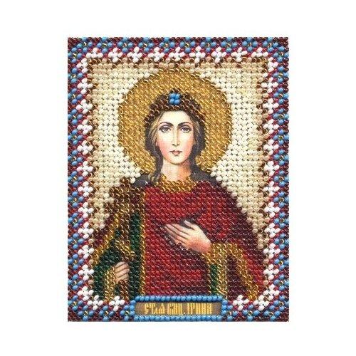 PANNA Набор для вышивания бисером и нитками Икона Святой Великомученицы Ирины 8.5 x 10.5 см (ЦМ-1250)