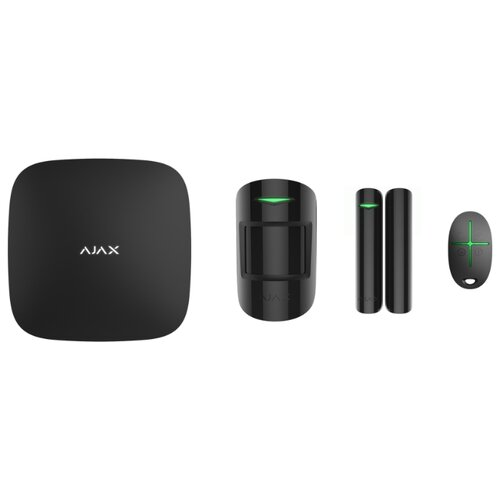 Комплект умного дома AJAX StarterKit black датчик ajax glassprotect black