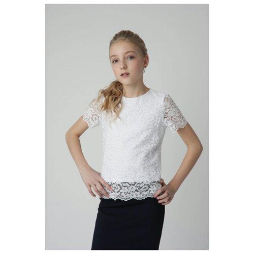 Купить Блузка Gulliver размер 122, белый, Рубашки и блузы