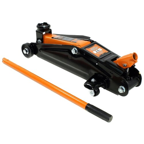 Домкрат подкатной АвтоDело 43221 (2 т) черный/оранжевый