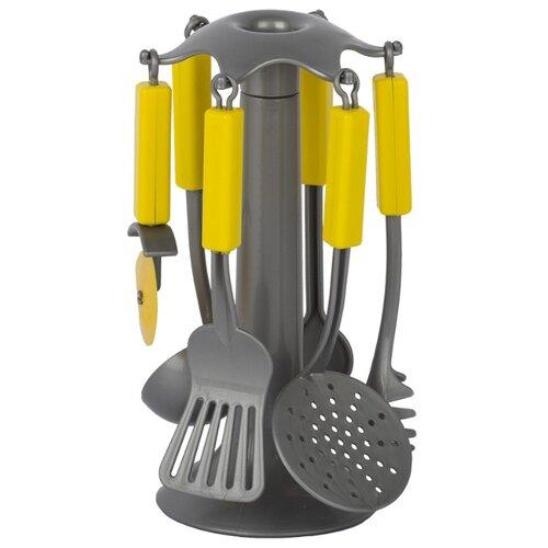 Купить Набор посуды СТРОМ Кухонные приборы У543 серебристый/желтый, Игрушечная еда и посуда