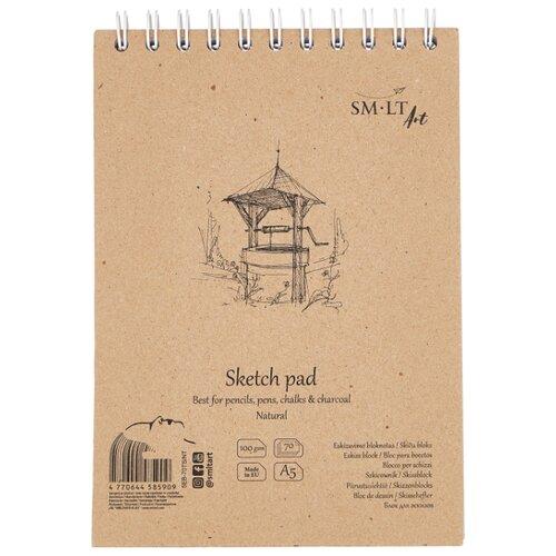 Купить Альбом для эскизов Smiltainis Authentic Natural 21 х 14.8 см (A5), 100 г/м², 70 л., Альбомы для рисования