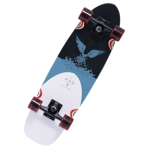 """Лонгборд Ridex Hunt 28"""" черный/белый/голубой"""