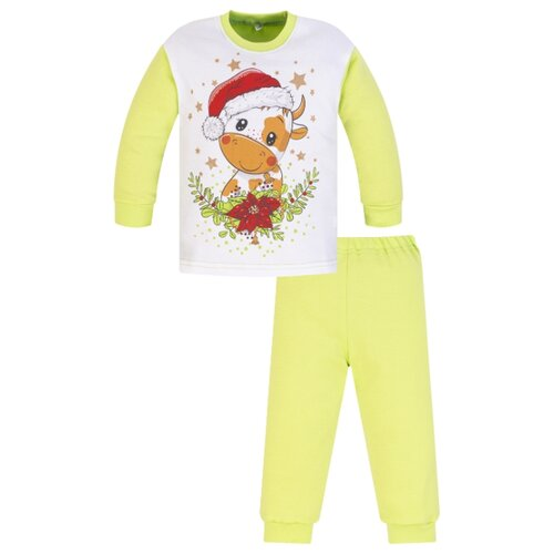 Пижама Утенок размер 134, салатовый по цене 700