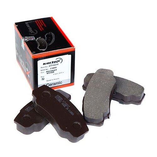 Дисковые тормозные колодки задние KORTEX KT1521T для Fiat Ducato, Citroen Jumper (4 шт.)