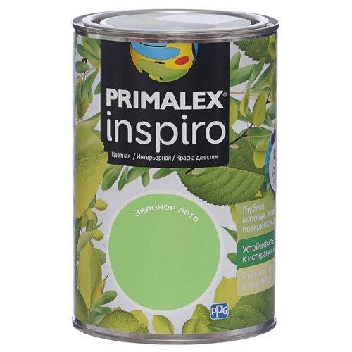 Краска PRIMALEX Inspiro моющаяся матовая зеленое лето 1 л