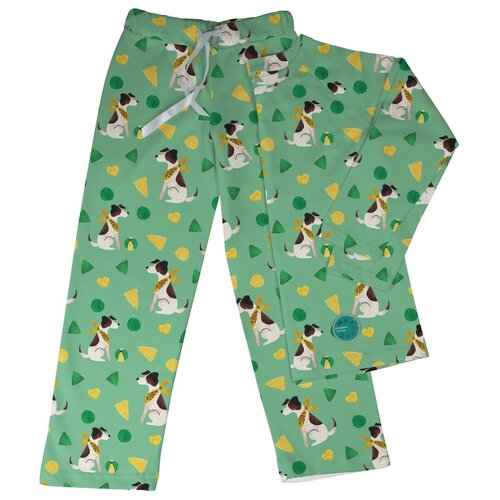 Купить Пижама Marengo Textile размер 140, зеленый, Домашняя одежда