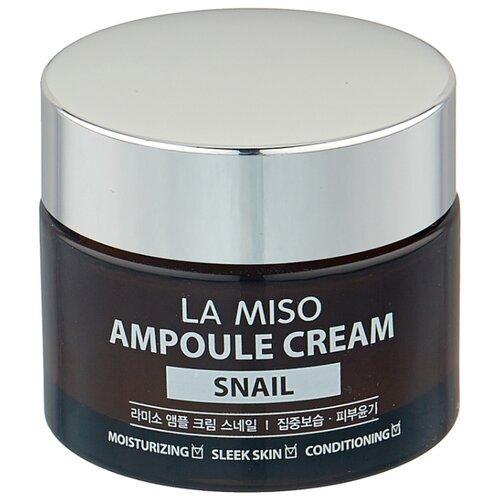La Miso Ampoule Cream Snail Крем для лица с экстрактом слизи улитки, 50 г la miso ampoule cream hyaluronic крем для лица с гиалуроновой кислотой 50 г