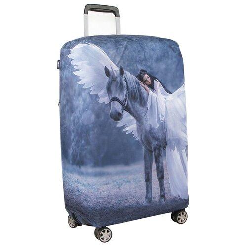 Чехол для чемодана RATEL Animal Sleeping beauty L, серебристый/синий недорого