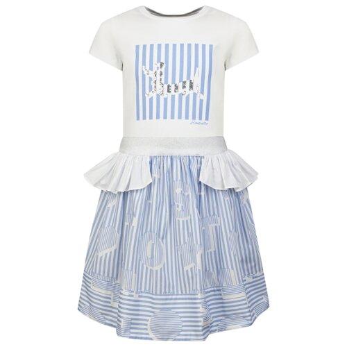 Купить Комплект одежды Simonetta размер 152, белый/голубой, Комплекты и форма