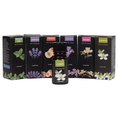 Индокитай набор ароматических масел Зеленый чай, жасмин, лаванда, сирень, персик, роза 60 мл