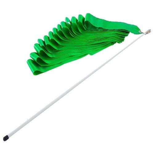 Фото - Палочка с лентой для художественной гимнастики Larsen AB220 зеленый палочка с лентой для художественной гимнастики larsen ab220 синий