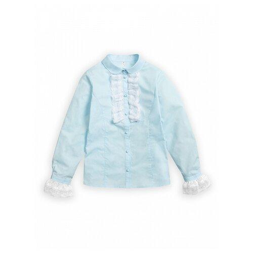 Купить Блузка Pelican размер 7, голубой, Рубашки и блузы