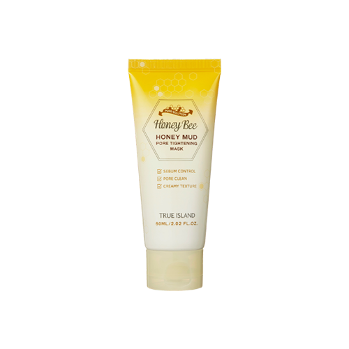 TRUE ISLAND медовая маска Honey mud pore tightening mask, 60 мл