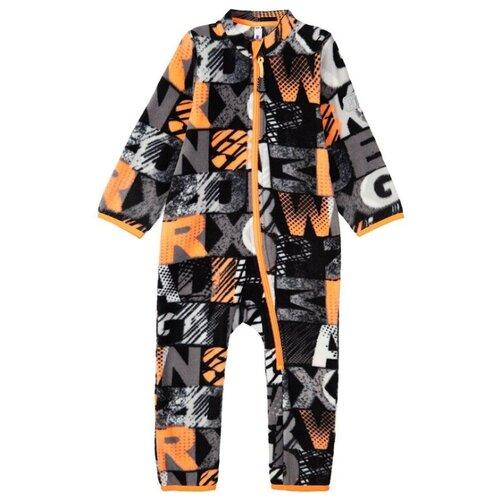 Купить Комбинезон playToday размер 74, черный/серый/темно-серый/белый/оранжевый, Комбинезоны