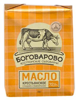 Боговарово Масло Сладкосливочное 72.5%, 170 г