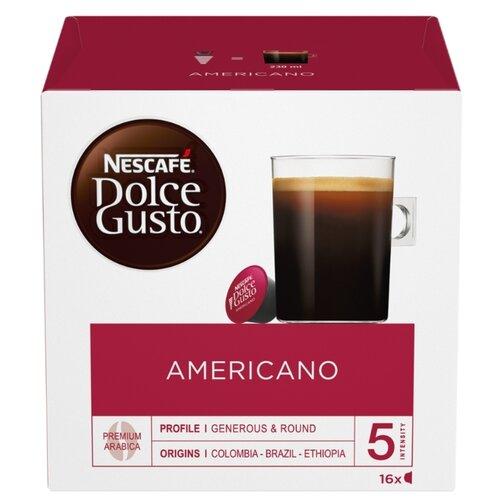 Кофе в капсулах Nescafe Dolce Gusto Americano (16 капс.), без кофеина кофе в капсулах nescafe dolce gusto mexico americano 12 капс