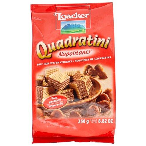 Вафли Loacker Quadratini Napolitaner ореховые 250 г вафли добрый совет ореховые на