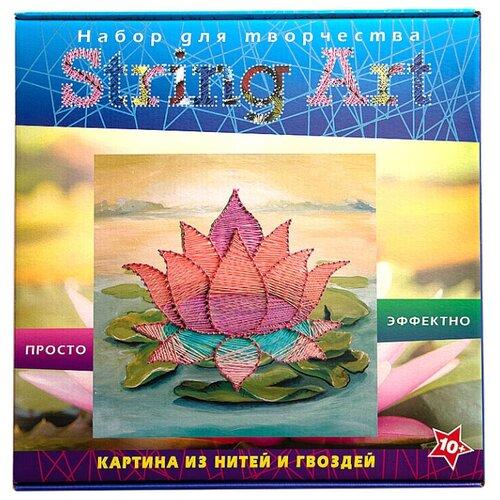 Купить Волшебная Мастерская Набор для творчества в технике String Art Лотос (ST-06), Поделки и аппликации