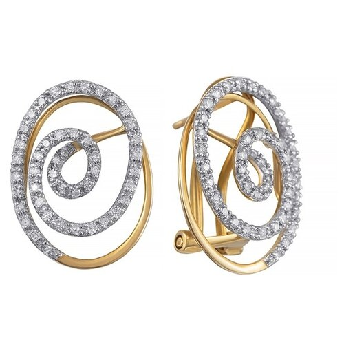 JV Золотые серьги с бриллиантами KR0134CE-D-YG