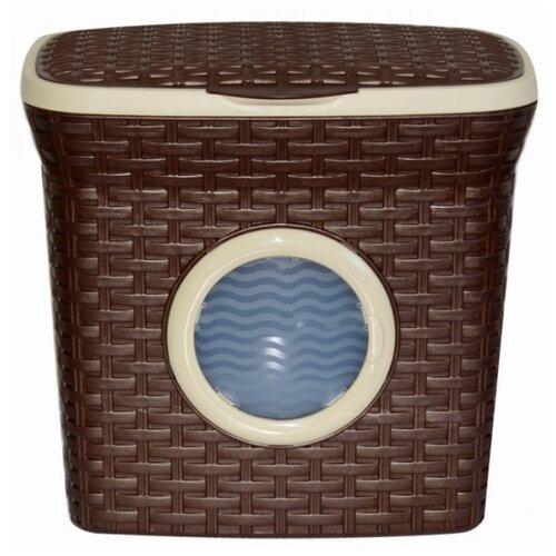 Violet Контейнер для стирального порошка с иллюминатором Ротанг 27х28,5х20,5 см коричневый violet контейнер для
